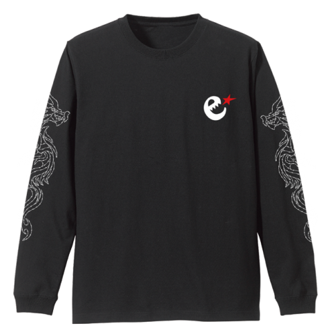 Dragon L/S tee sleeve print
