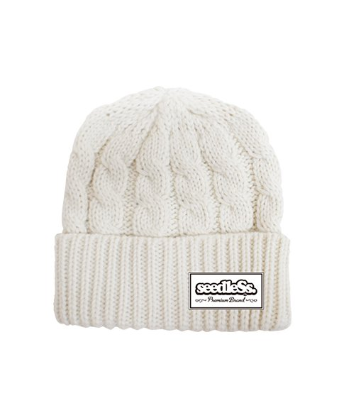 sd cable knit beanie