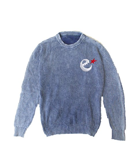 rg stone washed cotton knit crewの商品イメージ