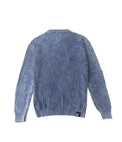rg stone washed cotton knit crew