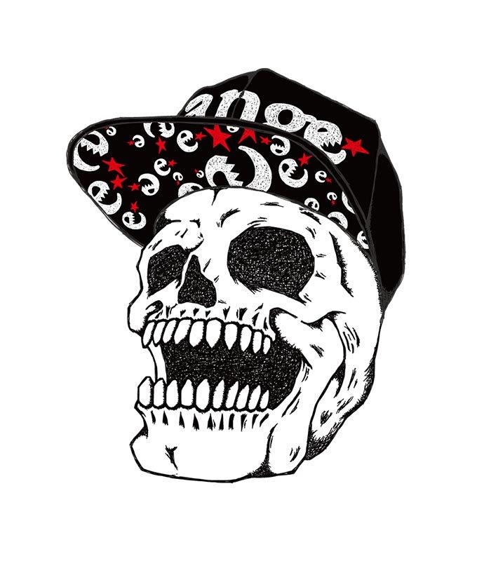 snap back skull s/s T