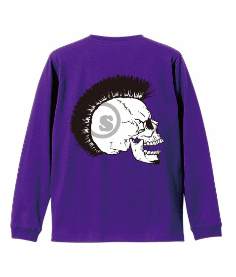 Mohican skull L/S tee