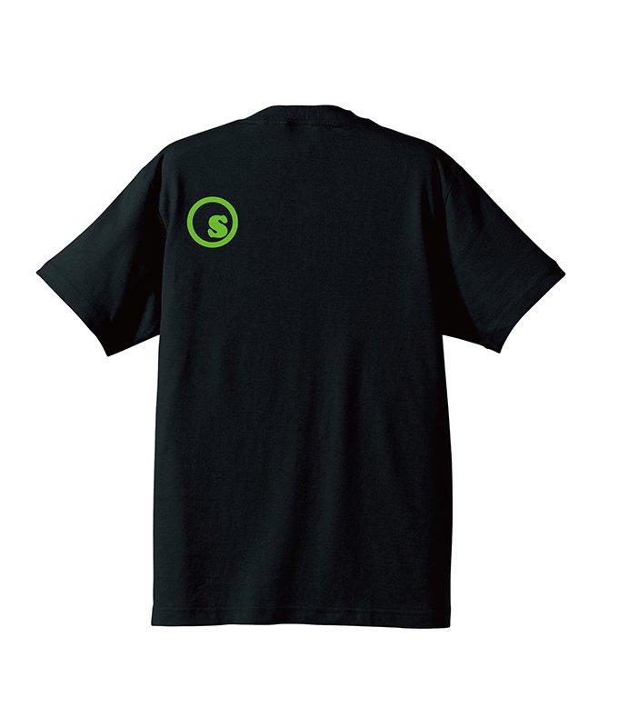 Green gradation crest s/s tee