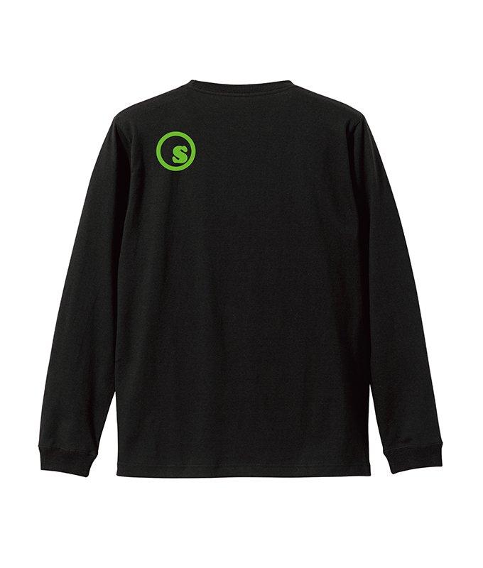Green gradation crest L/S tee