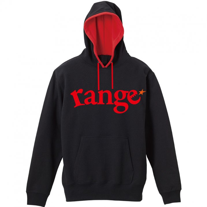 range logo pull over hoody spot color