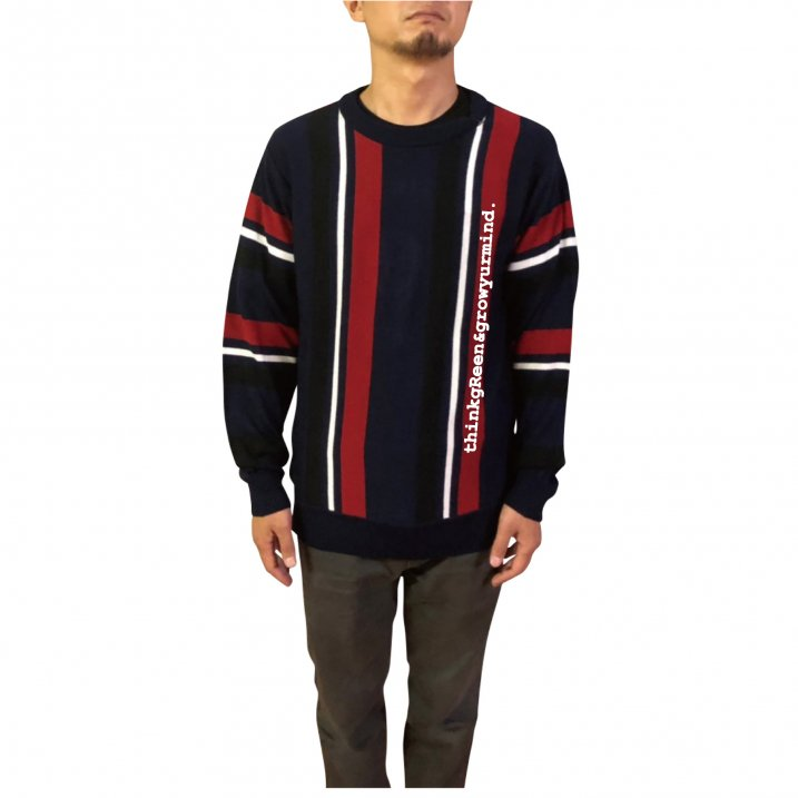 sd stripe crew knit
