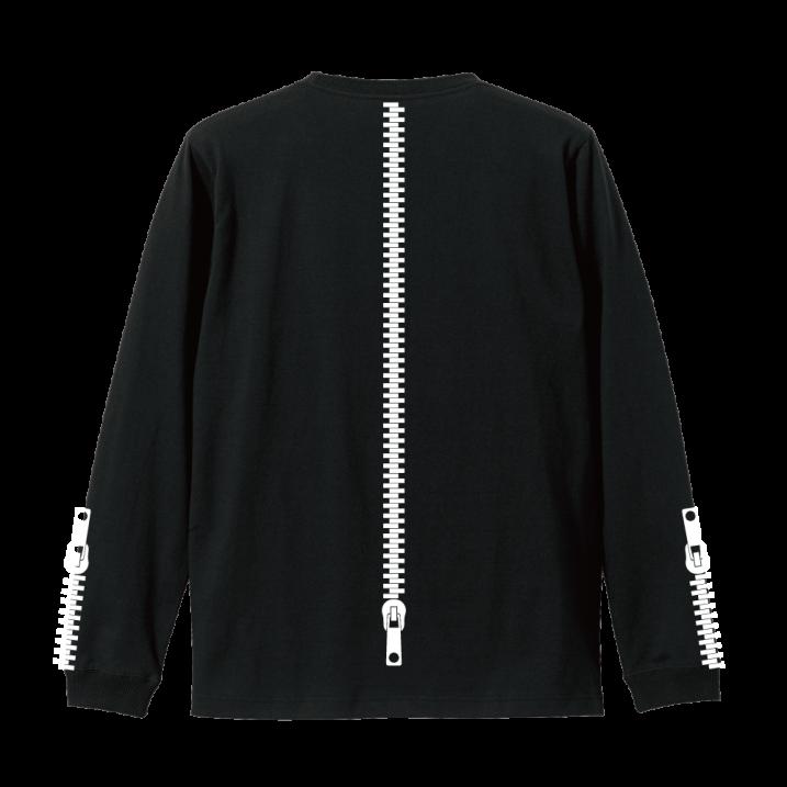 rg back side zipper L/S tee