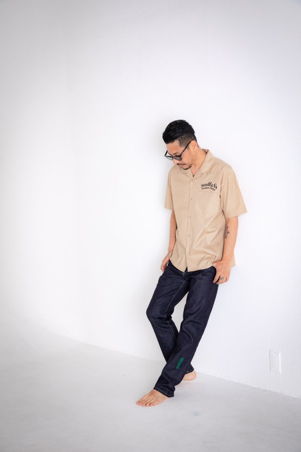 sd T/C open collar s/s shirts