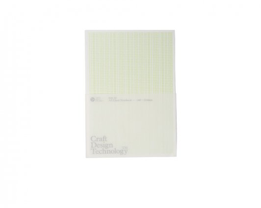 Craft Design Technology A5 Lined Notebook PALE GREEN