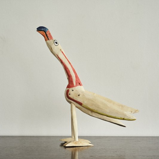 OAXACAN WOOD CARVINGS BIRD LONG