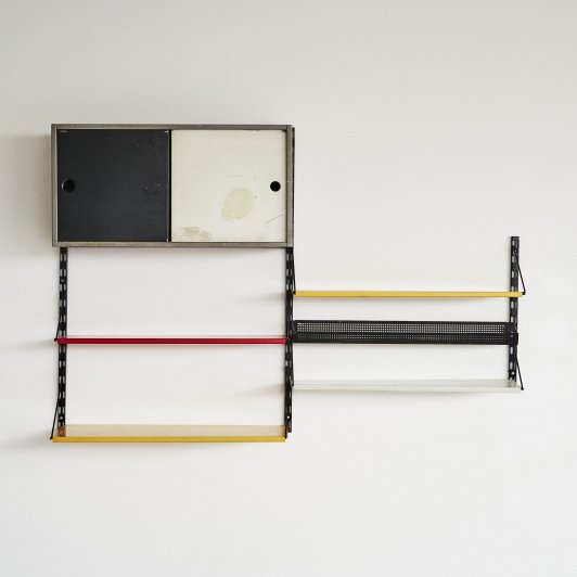 Wall unit by Tjerk Reijenga for Pilastro, Dutch design 1960's