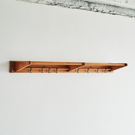 Wooden coat rack 1970s Design