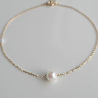 アコヤパール一粒ブレスレット  Akoya one pearl bracelet