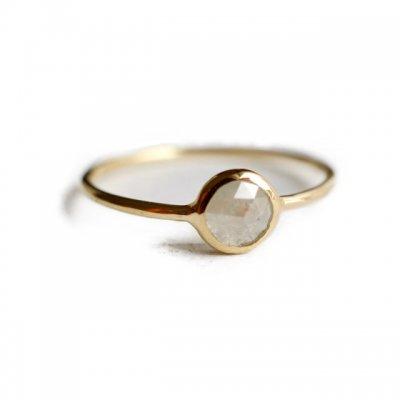 ローズカットナチュラルダイヤモンドリング-ベージュ Natural Diamond -beige