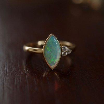 White Opal ring K18 〜Modern Classic〜