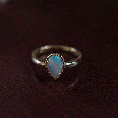 White Opal ring ps K18 〜Modern Classic〜