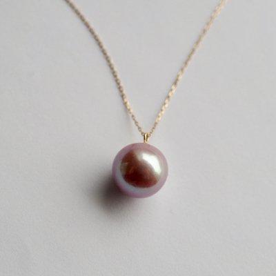 ルベルパールネックレス  Metallic Ruber Pearl Necklace