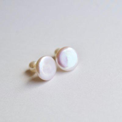 コインパールピアス(PW)Coin Pearl  pierce