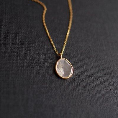 スライスダイヤモンドネックレス Slice Diamond  necklace K18_ns