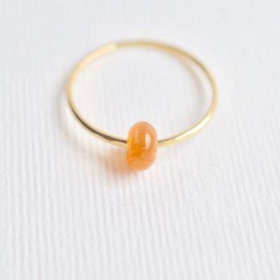 オレンジムーンストーン リング  Moving Ring Orange Moon Stone