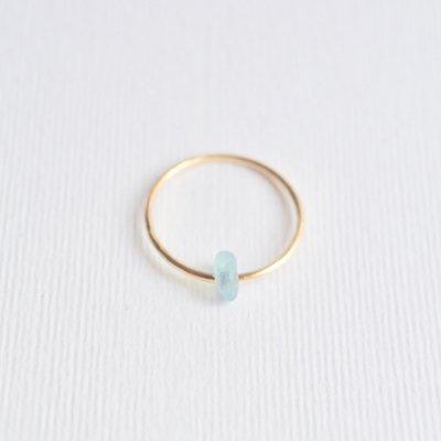 アクアマリン リング  Moving ring  Aquamarine