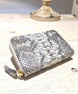 CHIAVI D'ORO ダイヤモンドパイソンコインケース、小銭入れ カラー : グリージョビアンコ+プラチナ箔