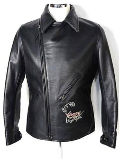 MOTORCYCLE JACKET COW HIDE-HAND PAINT