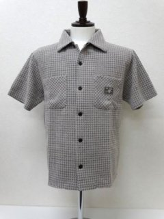 HOUNDSTOOTH-SHORT SLEEVE SHIRTS
