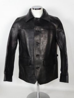 30's CAR COAT-COW HIDE