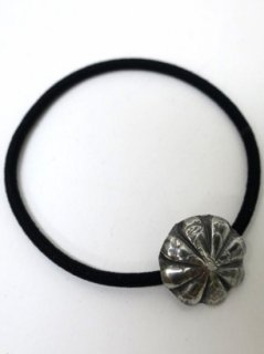 GH BUTTON - HAIR BAND [SILVER/COIN]