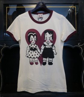 <img class='new_mark_img1' src='//img.shop-pro.jp/img/new/icons14.gif' style='border:none;display:inline;margin:0px;padding:0px;width:auto;' />VAMPY & FRANKEY - RINGER T-SHIRTS