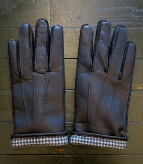 <img class='new_mark_img1' src='//img.shop-pro.jp/img/new/icons14.gif' style='border:none;display:inline;margin:0px;padding:0px;width:auto;' /> GH LEATHER GLOVE[BLACK×CHECK]