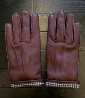 <img class='new_mark_img1' src='//img.shop-pro.jp/img/new/icons14.gif' style='border:none;display:inline;margin:0px;padding:0px;width:auto;' />GH LEATHER GLOVE[BROWN×CHECK]