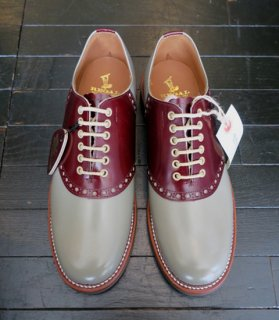 <img class='new_mark_img1' src='//img.shop-pro.jp/img/new/icons14.gif' style='border:none;display:inline;margin:0px;padding:0px;width:auto;' />[GLAD HAND×REGAL]SADDLE SHOES/GRAY×BROWN