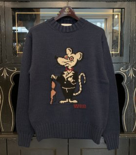 <img class='new_mark_img1' src='//img.shop-pro.jp/img/new/icons14.gif' style='border:none;display:inline;margin:0px;padding:0px;width:auto;' />CLASSIC RAT - CREW NECK SWEATER