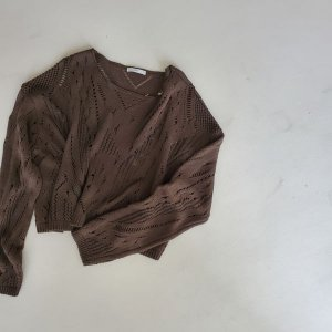 Sukashiami knit - brown
