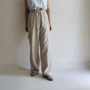 over belt slacks - beige