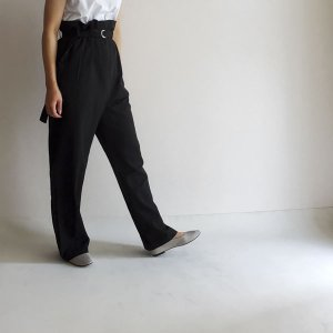 over belt slacks - black