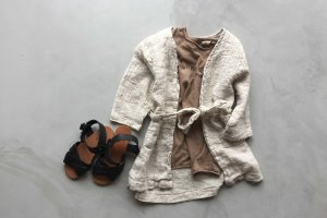 50%OFF long  cardigan / beige