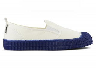 SLIP-ON COLOR SOLE 10WHITE / NAVY<img class='new_mark_img2' src='https://img.shop-pro.jp/img/new/icons5.gif' style='border:none;display:inline;margin:0px;padding:0px;width:auto;' />