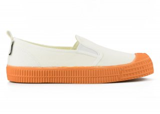 SLIP-ON COLOR SOLE 10WHITE / ORANGE<img class='new_mark_img2' src='https://img.shop-pro.jp/img/new/icons5.gif' style='border:none;display:inline;margin:0px;padding:0px;width:auto;' />