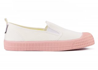 SLIP-ON COLOR SOLE 10WHITE / PINK<img class='new_mark_img2' src='https://img.shop-pro.jp/img/new/icons5.gif' style='border:none;display:inline;margin:0px;padding:0px;width:auto;' />