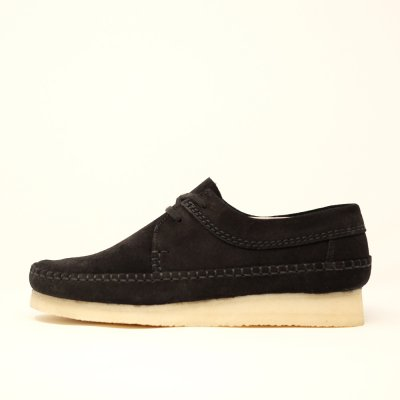 <img class='new_mark_img1' src='https://img.shop-pro.jp/img/new/icons5.gif' style='border:none;display:inline;margin:0px;padding:0px;width:auto;' />CLARKS ORIGINALS [ WEAVER ] (BLACK SUEDE) ブラック