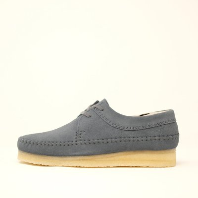 <img class='new_mark_img1' src='https://img.shop-pro.jp/img/new/icons5.gif' style='border:none;display:inline;margin:0px;padding:0px;width:auto;' />CLARKS ORIGINALS [ WEAVER ] (SLATE BLUE SUEDE) ブルー