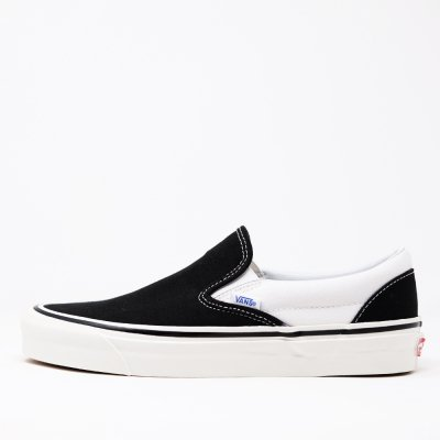 <img class='new_mark_img1' src='//img.shop-pro.jp/img/new/icons5.gif' style='border:none;display:inline;margin:0px;padding:0px;width:auto;' />VANS CLASSIC SLIP-ON 98 DX(ANAHEIM FACTORY)  BLACK/WHITE