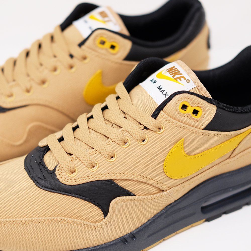 dda4a4b4e0 [日本未発売] NIKE ナイキ AIR MAX 1 エアマックス 1 PREMIUM 875844-700 ELEMENTAL GOLD/MINERAL  YELLOW