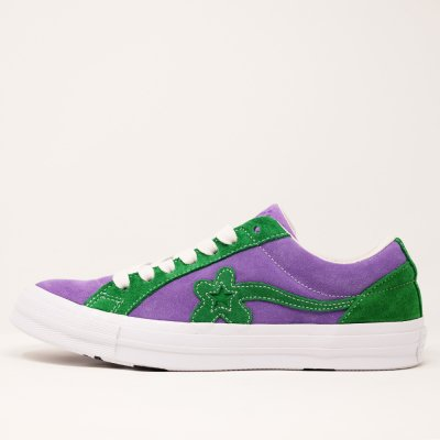 <img class='new_mark_img1' src='//img.shop-pro.jp/img/new/icons5.gif' style='border:none;display:inline;margin:0px;padding:0px;width:auto;' />CONVERSE GOLF LE FLEUR OX 162128C PURPLE HEART/JOLLY GREEN