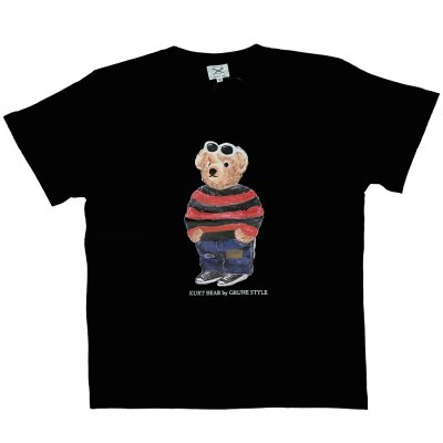 <img class='new_mark_img1' src='//img.shop-pro.jp/img/new/icons5.gif' style='border:none;display:inline;margin:0px;padding:0px;width:auto;' />SECOND LAB. [KURT BEAR TEE] (BLACK)