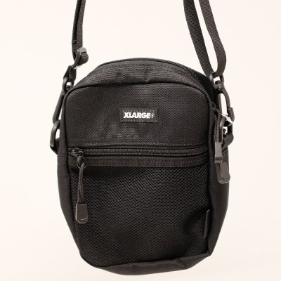 XLARGE® [PATCHED SHOULDER BAG] (BLACK)