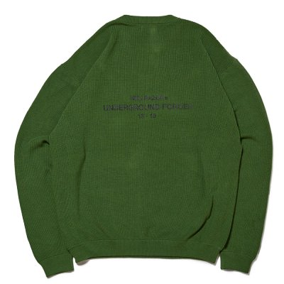 HELLRAZOR [UNDER GROUND FORCE CREW KNIT SWEATER] (GREEN)